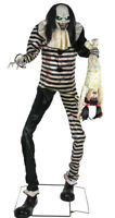 7 Ft Sweet Dreams Clown Halloween Animated Life Size Prop Haunted House Decor
