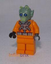 LEGO CUSTOM RODIAN Starfighter pilota di Star Wars minifig GREEDO/Wald stile cus224