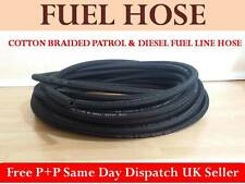 7mm 9/32' 1 METRE BRAIDED RUBBER UNLEADED PETROL DIESEL FUEL LINE PIPE OIL HOSE