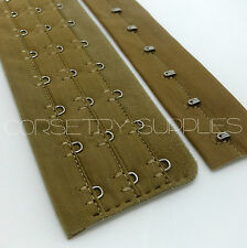 Olive Green Hook and Eye Loop Tape Corset Bastier Lingerie Making 3 Rows 28.5cm