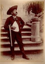 CHASSEUR FUSIL chapeau papillon photo 12x17cm circa 1870