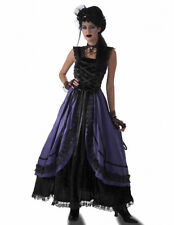 Adult Purple Poison Dress Costume Steampunk Cosplay Victorian Science Gothic fnt