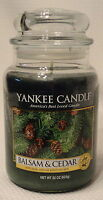 Balsam & Cedar Candle by Yankee Large Jar 22 oz Holiday Scent and Free Shipping
