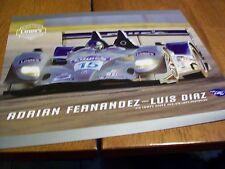 LOWE'S ADRIAN FERNANDEZ LUIS DIAZ 2008 AMERICAN LE MANS RACING HANDOUT