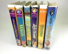 Classic Disney Movies VHS Lot Of 6 - Lady and the Tramp - The Little Mermaid