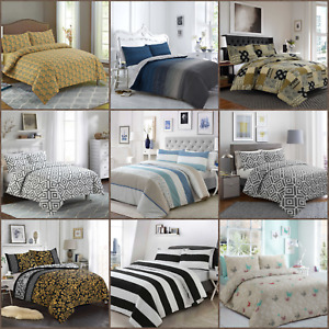 100% Egyptian Cotton Printed Duvet Cover Sets/Quilt Sets Many Patterns All Sizes