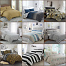 100% Egyptian Cotton Printed Duvet Cover Sets/Quilt Sets NEW GIFT Item All Sizes