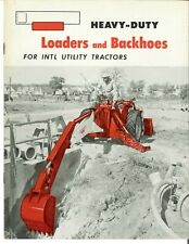 Ih International Heavy Duty Loaders And Backhoes For Utility Tractors Brochure