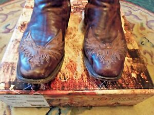 Old Gringo Rare Cool Eagle Mens Western Boots Very Rare GUC With Box---Nice 9.5M