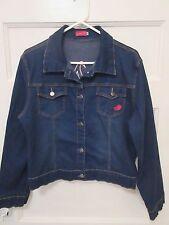 Apple Bottoms Junior/Ladies Size XXL Appliqued Denim Jean Jacket