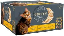 More details for encore 100% natural wet cat food, multipack chicken selection in broth 8 x 70g