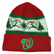 MLB New Era Fillz Washington Senators Cuffed Knit Beanie Toque Christmas Theme
