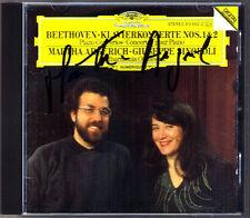 Marhta ARGERICH Signiert BEETHOVEN Piano Concerto No.1 & 2 Giuseppe SINOPOLI CD