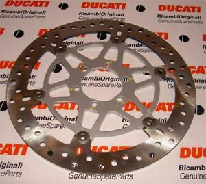 Late Ducati 300mm Brembo brake disc NO OFFSET, 80mm diameter mounting holes