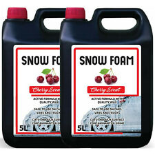 SNOW FOAM CHERRY FRAGRANCE CAR CANDY SHAMPOO HIGH GLOSS PH NEUTRAL CLEAN 10L