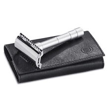 Merkur Solingen 46C Double Edge Safety Razor Travel Razor in Leather Case