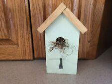 Handmade Primitive Wooden Birdhouse Country Spring Shelf Decor Rustic Farmhouse
