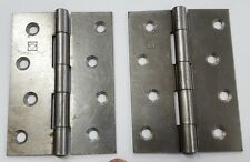 """Steel Large Butt Hinge 4"""" x 3"""" 100mm x 70mm One Pair"""