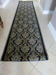 "Traditinal Preimum Plush Pile Quality Carpet Hallway Runner Extra Long 34"" x144"""