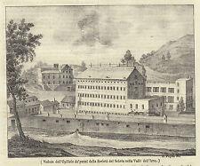 1840 litografia Opificio della Società del Sebeto nella Valle dell'Irno
