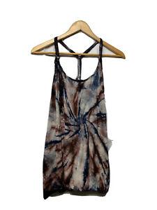 Women cotton knit top T-shirt tie dye summer sale s m l xl racer back tank