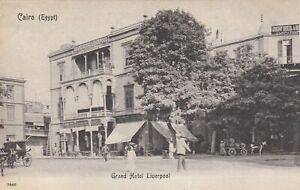 1905 EGYPT POSTCARD GRAND HOTEL CONTINENTAL RPPC