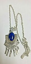 Sterling & Lapis Fringed Middle Eastern style necklace