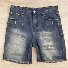 KsubiKids Girls Teens Denim Distressed Shorts Size 16 Adjustable waist (I3)