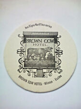 Vintage ROBINSONS - INN SIGNS - BROWN COW HOTEL - Cat No'104 Beermat / Coaster