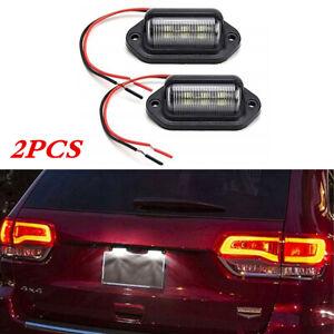 2x White LED Car Truck Pedal License Plate Light Bulb 6500K 12-24V Lamp w/Screws
