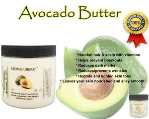 Avocado Butter Natural Kosher Skin Face Body Hair 100% Raw High Quality
