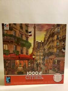 Ceaco Cities by David Maclean 1000 Piece Puzzle Floral Complete