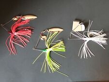 Spinner bait great for bass walleye pike and muskie lot of 3