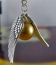 Harry Potter, goldener Schnatz Anhänger mit silberne Flügel, Halskette, Sammlere