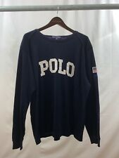 Ralph Lauren Polo Sport Vintage 90's Usa Rugby Jersey Shirt Flag Medium
