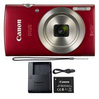 Canon PowerShot IXUS 185 / Elph 180 20MP Compact Digital Camera Red (1096C001)