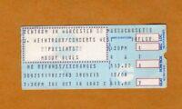 1983 Moody Blues Stevie Ray Vaughan concert ticket stub Worcester MA Texas Flood