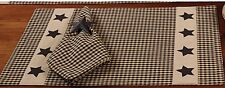 The Country House Colonial Black Star Placemats---NEW
