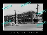 OLD 8x6 HISTORIC PHOTO OF PADUCAH KENTUCKY VIEW OF THE CITY HOSPITAL c1940