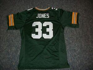 AARON JONES Unsigned Custom Sewn New Football Green Bay Jersey S, M,L,XL,2XL,3XL