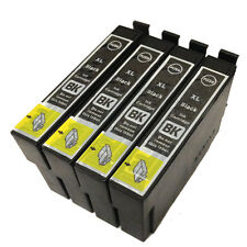 4 Black Ink Cartridge for Epson WorkForce WF-3620DWF WF-7610DWF WF-7620DTWF T