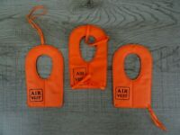 Vintage Action Man Orange Scramble Air Vest Bundle X 3 Life Jackets Palitoy