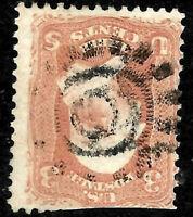 """Sc #65 """"GEP-29 Cogwheel"""" Fancy Cancel SON 3 Cent 1861 Civil War US 18C12"""