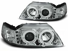 FORD MUSTANG 1998 1999 2000 2001 2002 2003 2004 HEADLIGHTS LPFO32 HALO CHROME
