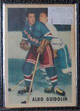 1953-54 ALDO GUIDOLIN - Rangers - #66 - Parkhurst - Autographed - NCC
