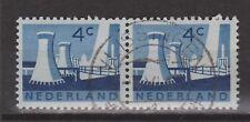 NVPH Netherlands Nederland 792 pair TOP CANCEL VLISSINGEN Landschapszegel 1962