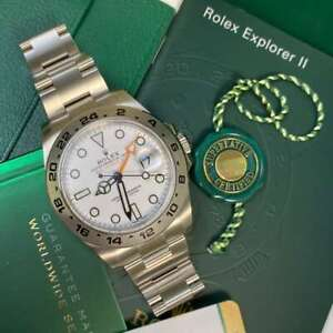 Rolex Explorer II 216570 White Dial 42mm Soon to be discontinued!