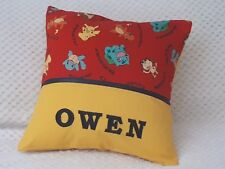 POKEMON (RED) - Child's/Boys/Girls/Teens Personalised Character Cushion Cover -