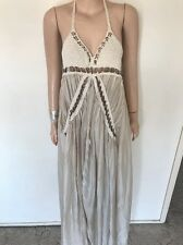 DIVINE Rare SASS & BIDE Crochet Rings Maxi Silk Dress Size 36 Euro 0 RRP$800+