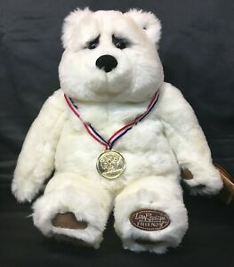 Halbert Special Olympics Bear Lou Rankin Dakin Gold Medal Hero White Teddy 2001